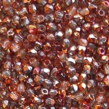 True 2mm Fire Polished, Crystal Sunset - 50